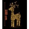 Nexos Trading GmbH & Co. KG Karácsonyi LED dekoráció - rénszarva- 100cm, meleg fehér