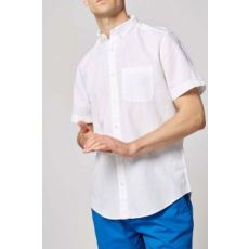 Next , Regular fit len tartalmú oxford ing, Fehér, XS (367912-WHITE-XS)