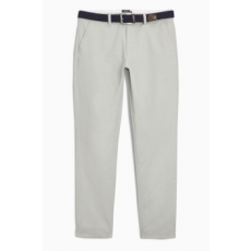 Next , Slim fit chino nadrág övvel, homokbarna, 36R (767847-BEIGE-36R)
