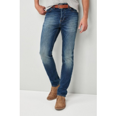 Next , Slim Fit farmernadrág övvel, Kék, 32R (532458-BLUE-32R)