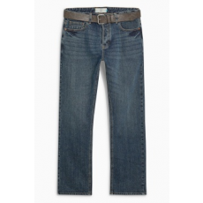 Next , Slim fit farmernadrág övvel, Kék, 36R (178674-BLUE-36R)