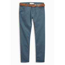 Next , Slim fit farmernadrág övvel, Púderkék, 36S (556246-BLUE-36S)