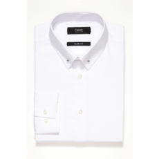 Next , Slim fit ing gallértűvel, Fehér, 17 1/2 (761931-WHITE-17 1/2)