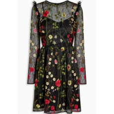 Next TBC NEXT Black Embroidered Floral Dress 16 (446741-BLACK-16)