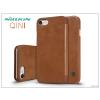 Nillkin Apple iPhone 7 oldalra nyíló flipes tok - Nillkin Qin - barna