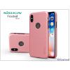 Nillkin Apple iPhone X hátlap képernyővédő fóliával - Nillkin Frosted Shield Logo - rose gold