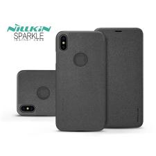 Nillkin Apple iPhone XS Max oldalra nyíló flipes tok - Nillkin Sparkle Logo - fekete tok és táska