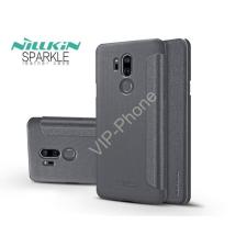 Nillkin LG G7 ThinQ G710 oldalra nyíló flipes tok - Nillkin Sparkle - fekete tok és táska