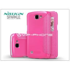 Nillkin LG K4 K120E oldalra nyíló flipes tok - Nillkin Sparkle - pink tok és táska
