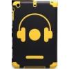Nillkin Nillkin Music Style puha gumis hátlaptok kemény érdes műanyag bevonattal Apple iPad mini, iPad mini 2, 3-hoz fekete-sárga*