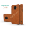 Nillkin Samsung A600F Galaxy A6 (2018) oldalra nyíló flipes tok - Nillkin Qin - barna