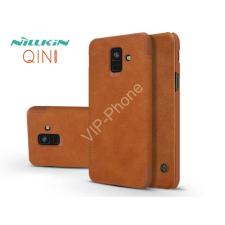 Nillkin Samsung A600F Galaxy A6 (2018) oldalra nyíló flipes tok - Nillkin Qin - barna tok és táska