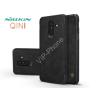 Nillkin Samsung A605 Galaxy A6 Plus (2018) oldalra nyíló flipes tok - Nillkin Qin - fekete