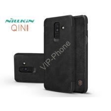 Nillkin Samsung A605 Galaxy A6 Plus (2018) oldalra nyíló flipes tok - Nillkin Qin - fekete tok és táska