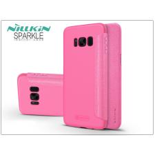 Nillkin Samsung G950F Galaxy S8 oldalra nyíló flipes tok - Nillkin Sparkle - pink tok és táska
