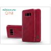 Nillkin Samsung G955F Galaxy S8 Plus oldalra nyíló flipes tok - Nillkin Qin - piros