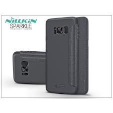 Nillkin Samsung G955F Galaxy S8 Plus oldalra nyíló flipes tok - Nillkin Sparkle - fekete tok és táska