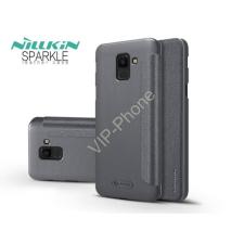 Nillkin Samsung J600F Galaxy J6 (2018) oldalra nyíló flipes tok - Nillkin Sparkle - fekete tok és táska
