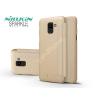 Nillkin Samsung J600F Galaxy J6 (2018) oldalra nyíló flipes tok - Nillkin Sparkle - gold