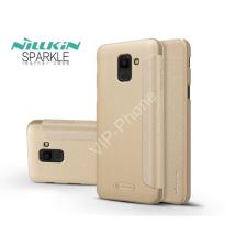 Nillkin Samsung J600F Galaxy J6 (2018) oldalra nyíló flipes tok - Nillkin Sparkle - gold tok és táska