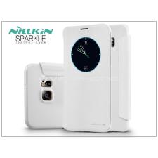 Nillkin Samsung SM-G928 Galaxy S6 Edge+ oldalra nyíló flipes tok - Nillkin Sparkle - fehér tok és táska