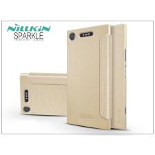 Nillkin Sony Xperia XZ1 (G8341) oldalra nyíló flipes tok - Nillkin Sparkle - gold tok és táska