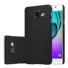Nillkin Super Frosted hátlap tok Samsung A310 Galaxy A3 (2016), fekete + ajándék kijelzővédő fólia tok és táska