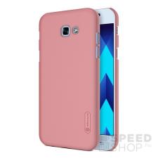 Nillkin Super Frosted hátlap tok Samsung A320 Galaxy A3 (2017), rozéarany + ajándék kijelzővédő fólia tok és táska