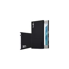 Nillkin Super Frosted hátlap tok Sony Xperia XZ Premium, fekete + ajándék kijelzővédő fólia tok és táska