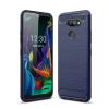 Nincs info LG K40s ütésálló, karbon mintás, szilikon tok, kék