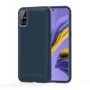 Nincs info Samsung Galaxy A51, ütésálló szilikon tok, szénszál mintázott, kék