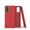Nincs info Samsung Galaxy S20 ütésálló szilikon tok, piros