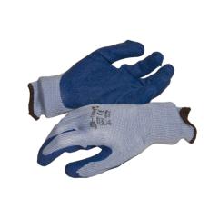NMSafety latex tenyérmártott Poli-pamut kötött kesztyű (EN 2242), kék, XXL-es