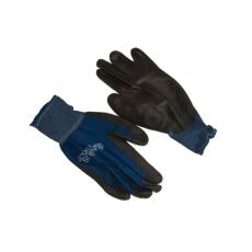 NMSafety PU tenyérmártott nylon kesztyű (EN 4131), kék, M-es