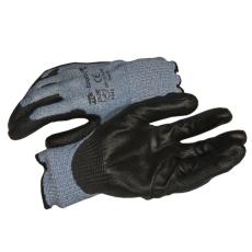 NMSafety PU tenyérmártott, nylon VÁGÁSÁLLÓ (5-ös szintű, EN 4543) kesztyű, XL-es;mk-tools