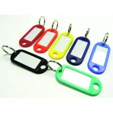 No-name Kulcsjelölő műanyag ovális/írható PIROS munkavédelem
