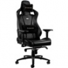 NOBLE CHAIRS Noblechairs EPIC BŐR Gamer szék, Fekete (NBL-RL-BLA-001)