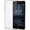 Nokia 6 gyári slim hátlap tok, átlátszó, CC-101