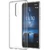Nokia 8 gyári hátlap tok, átlátszó, CC-701