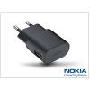 Nokia Nokia gyári micro USB hálózati töltő adapter - 5V/1,5A - AC-60E - black (csomagolás nélküli)