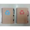 """Notesz \""""Recycled\"""", különböző formával, oldaltspirálozott (1db)"""