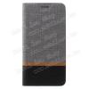 Notesz tok / flip tok - SZÜRKE - asztali tartó funkciós, oldalra nyíló, bankkártya tartó zsebekkel, szilikon belsõ - HTC One X10 Lite