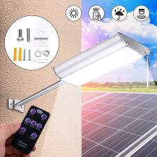 Novion 70-es LED-es napelemes fali utcalámpa 5 világítási móddal, mozgásérzékelővel kültéri világítás