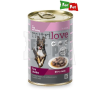 Nutrilove dog konzerv szószos borjú+pulyka 415gr