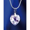 . Nyaklánc, Crystals from SWAROVSKI® kristályos szív alakú medállal, fehér színjátszós