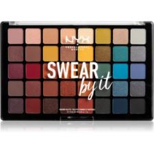 NYX Professional Makeup Swear By It szemhéjfesték paletta 40 x 1 g szemhéjpúder