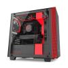 NZXT H400I Smart Fekete-Vörös windowed mATX (CA-H400W-BR)