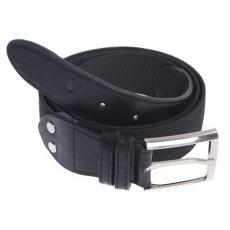 O&T Foster öv fém csattal, elasztikus fekete 3,6cm