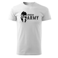 O&T rövid póló spartan army, fehér 160g/m2