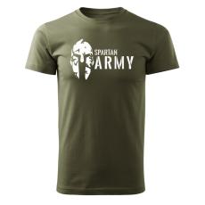 O&T rövid póló spartan army, oliva 160g/m2